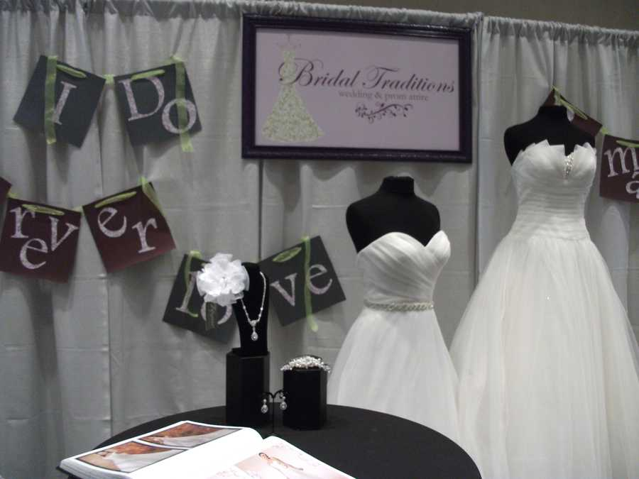 Bridal Traditions Wedding and Prom Attire sponsors of the Wilkes Wedding Expo and Fashion show had a booth at the bridal show.