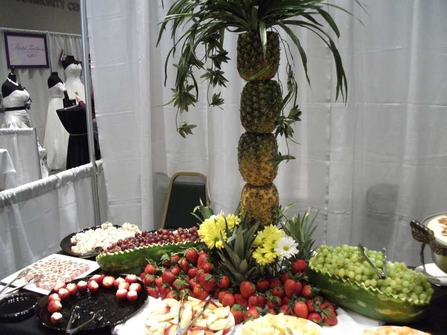 The John A. Walker Center had a lot of food at it's booth to show couples what they could get for their wedding parties and/or reception.