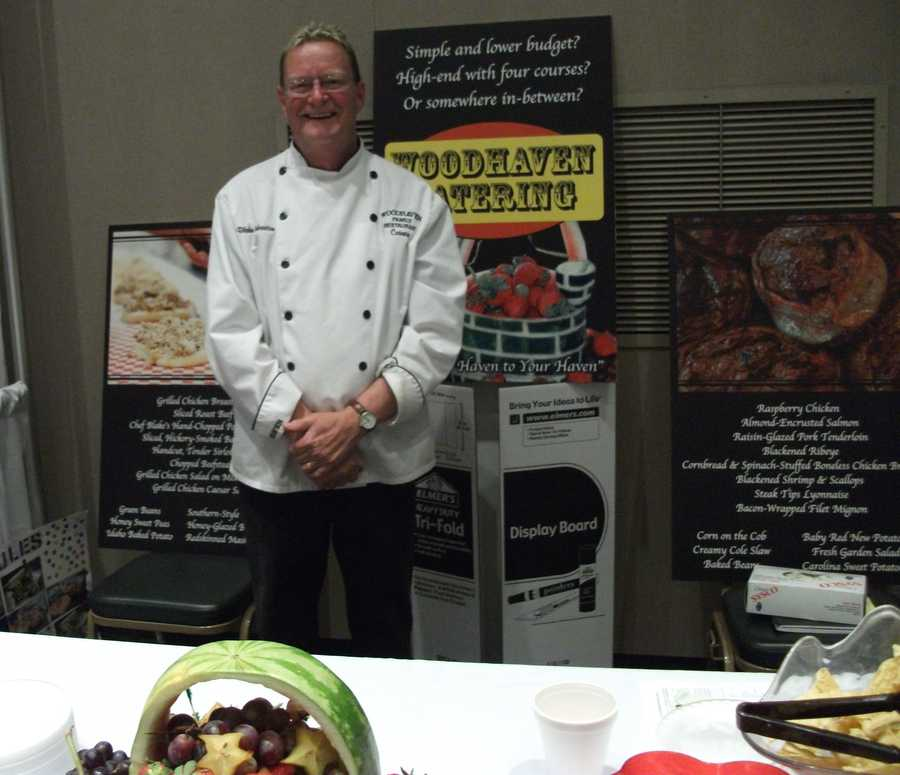 The Woodhaven Family Restaurant talked to couples about their catering services.