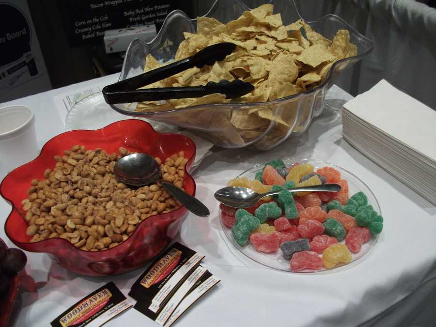 The Woodhaven Family Restaurant had a few things at the wedding show but they have a big arrangement of foods in their menus.