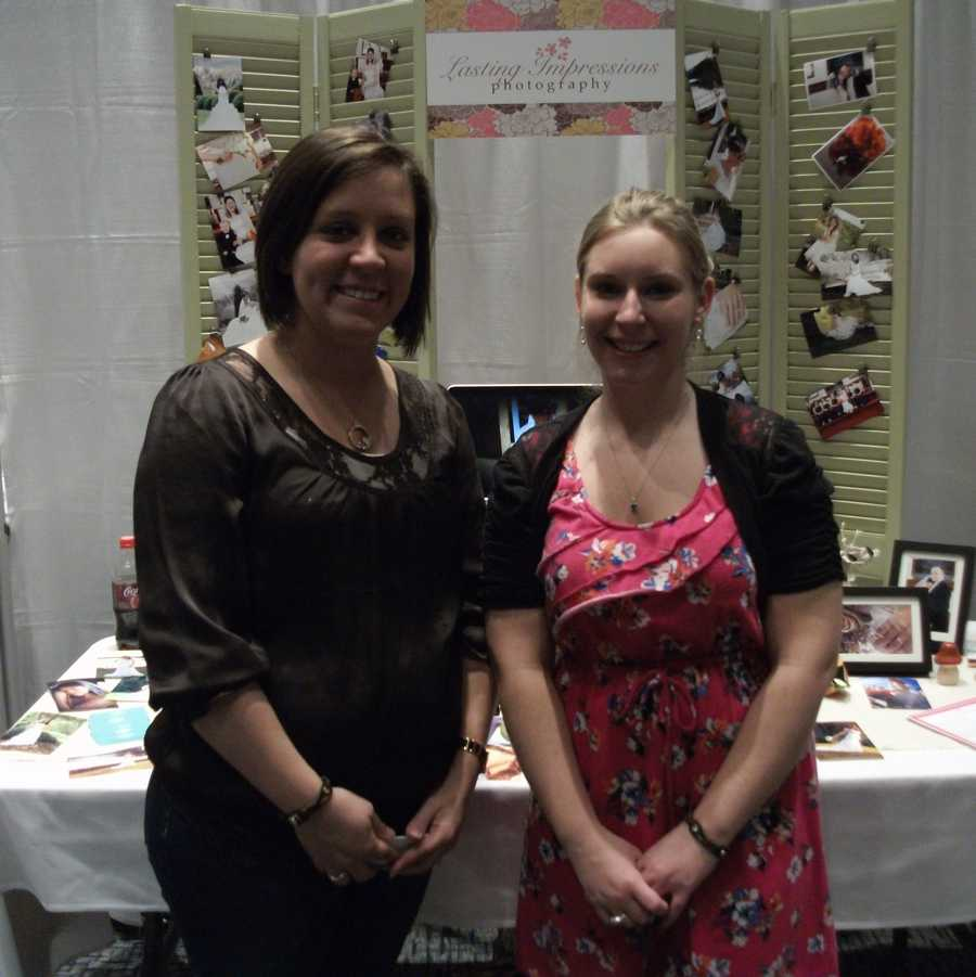 Lasting Impressions Photography was present at the Wilkes Wedding Expo to show off their work and talk with everyone about their work.