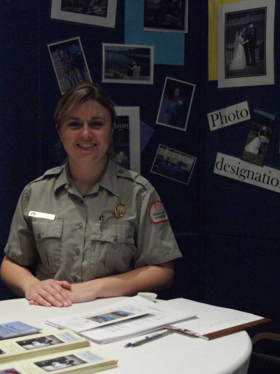 W. Kerr Scott Dam and Reservoir was represented by Park Ranger Crystal Dillard at the Expo to show the many weddings given at the Dam. For more information email: Crystal.M.Dillard@usace.arm.mil.
