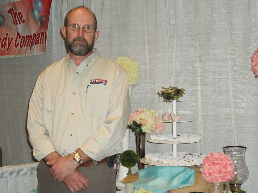 A&J Rental was represented to talk with couples to show them some of the items they had for all the wedding parties, ceremony and reception.