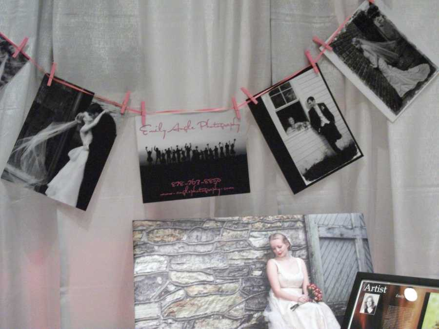 "Emily Angle Photography had a nice ""photo line"" to show her logo and photography work to the future brides and grooms."