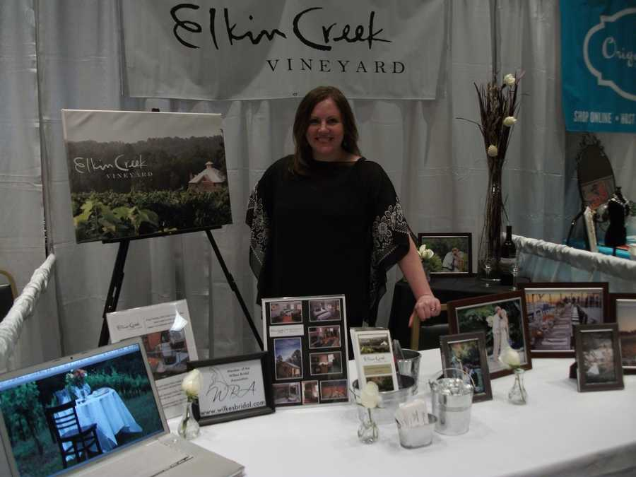 Elkin Creek Vineyard was represented to show what they had to offer couples for their wedding parties, ceremony and reception planning.