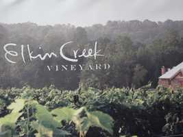 Elkin Creek Vineyard is a beautiful vineyard with beautiful backgrounds for the ceremony and wedding photos.