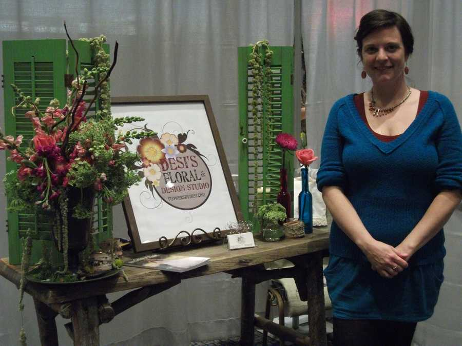 Desi's Floral & Design Studio was available to talk with couples about all their flower needs.