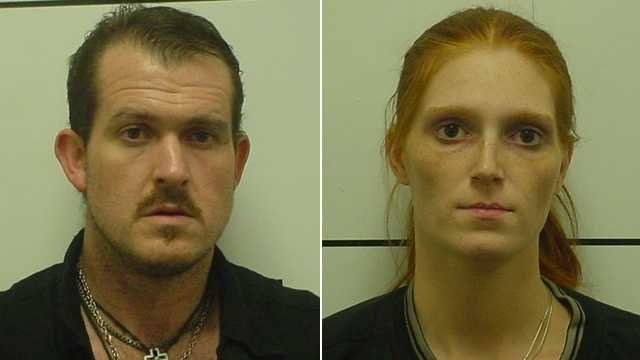 Jared Jessup, left, and Brittany Hill, right (Mount Airy police)