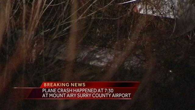 One injury was reported, with the victim airlifted to Baptist Hospital in Winston-Salem with non-life-threatening injuries. Only one person was on the plane.
