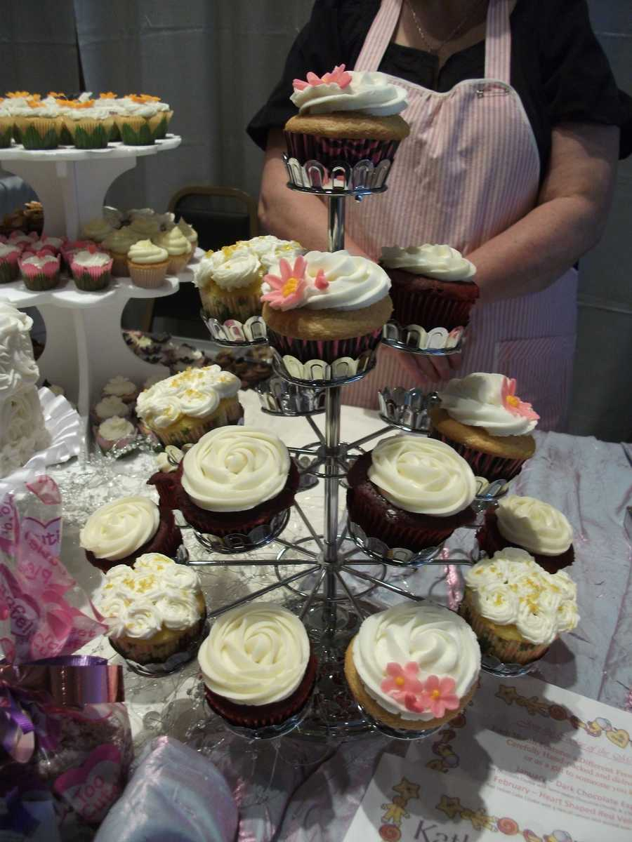 Kathy's Kreations Bakery & Confectionary Gift Shop had some very interesting flavors to help couples decide on flavor for their cake or if they wanted a cupcake tier at their reception. Email: murphy@skybest.com.