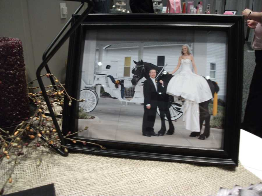 What better way to enter or exit the wedding than by horse carriage? This way would be great for a Princess or Country/Western Themed Wedding. (Circle M Stables)