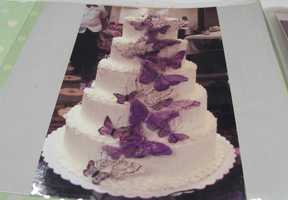 Click here for Cherished Moments Weddings and Events had albums with other cakes she had at weddings.