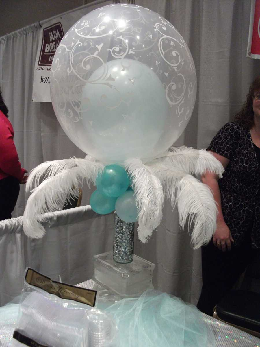 The Candy Company even gets creative with these feathers, balloons and vase. (Carrie Wray - 336-838-3291)