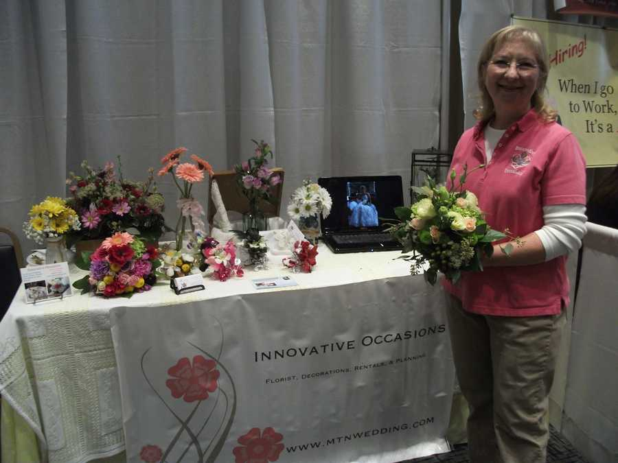 Innovative Occasions was at the Expo and talked with future brides about all their flower needs.