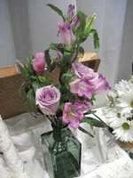 Innovative Occasions had this cool summer/spring/Easter themed wedding flower arrangement.