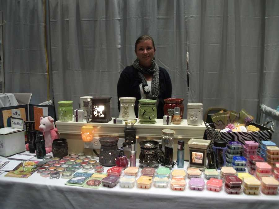 Scentsy was available to talk with the wedding couples and guests about all her products.