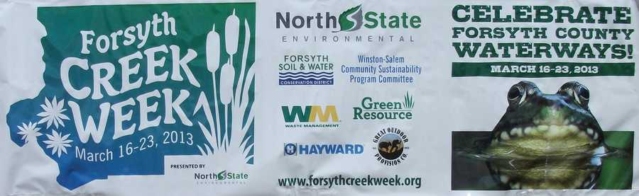 Forsyth Creek Week is scheduling events to help people become aware of what we can do to keep our water systems clean.