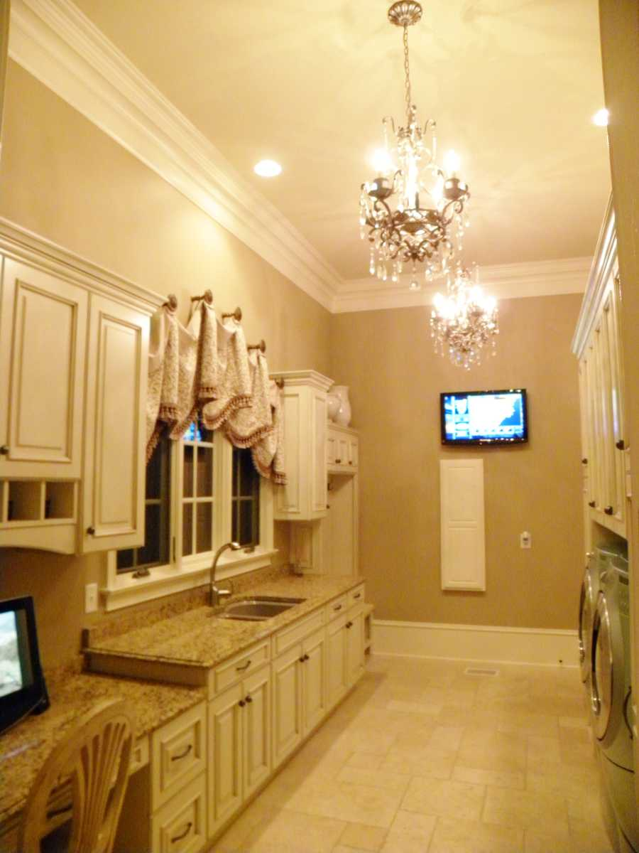 Laundry Room with Office Area
