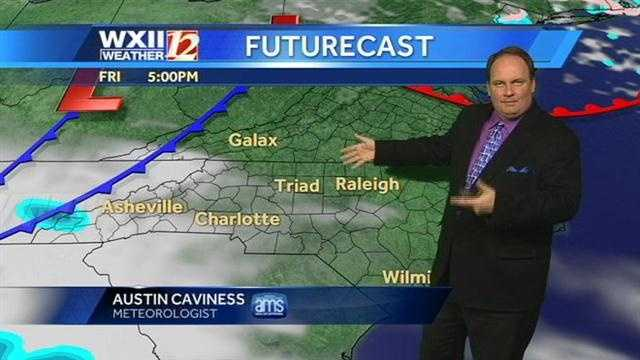 Let's check the futurecast at various hours, starting with Friday evening.