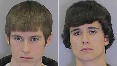 Tyler Beane, left, and Dakota Smith, right (Randolph County Sheriff's Office)
