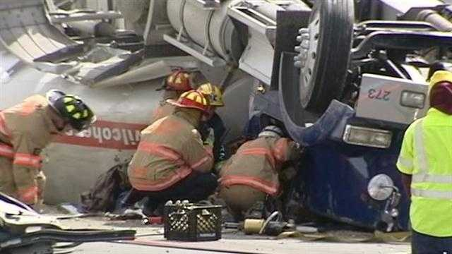 The truck was carrying 7,500 gallons of diesel fuel.