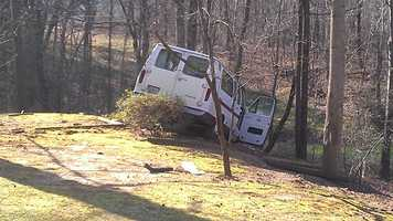 The crash occurred just before 8 a.m. in the 4900 block of Reidsville Road.