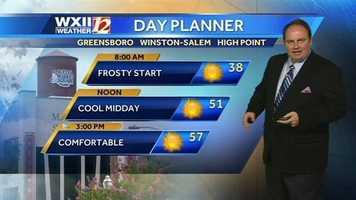 Wednesday's Piedmont day planner