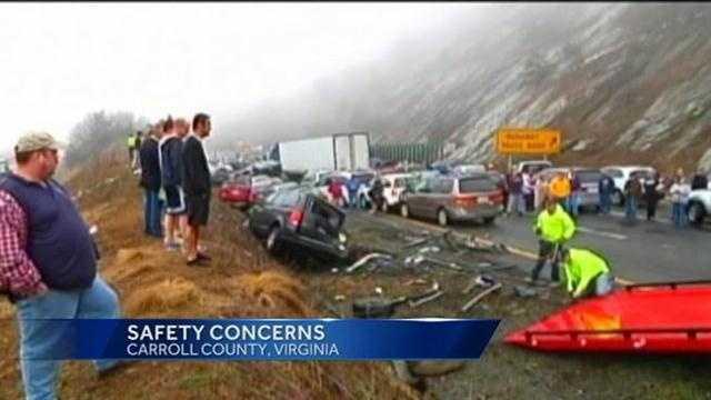 77 crash scene