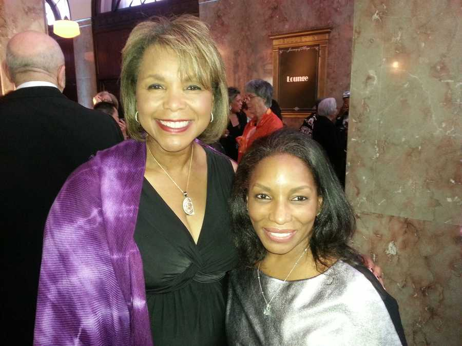 Wanda with singer Stephanie Mills