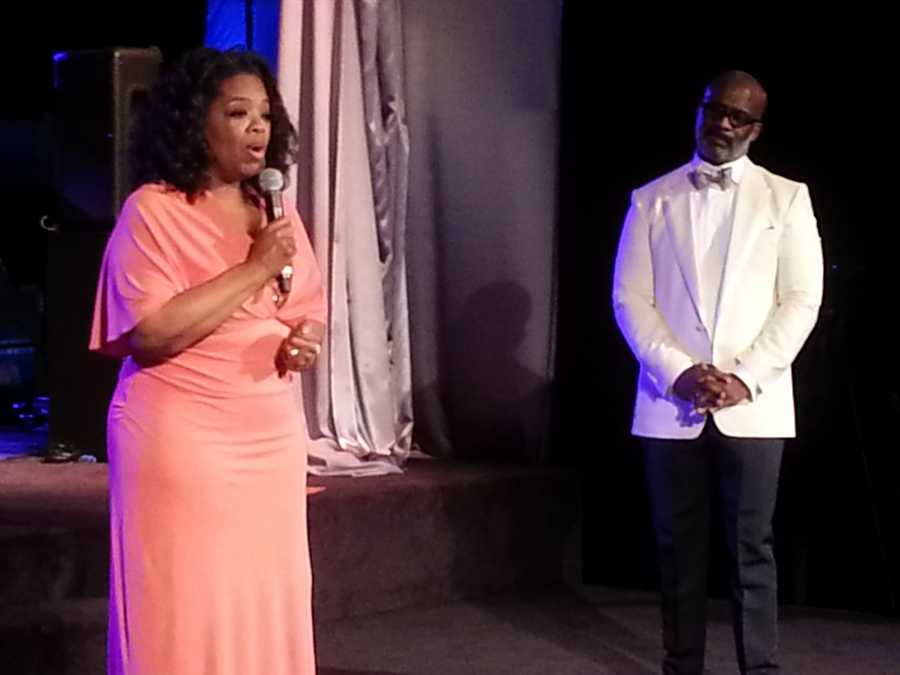 Oprah Winfrey hosted the party!