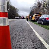 Highway 109 was closed Thursday morning after two separate crashes involving three vehicles near South Davidson High School. One person died, and another was airlifted to the hospital.
