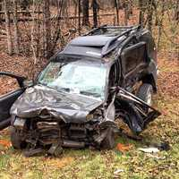 The driver of a Nissan SUV was life-flighted to Wake Forest Baptist Medical Center.