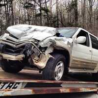 The driver of the Infiniti was charged with DWI.