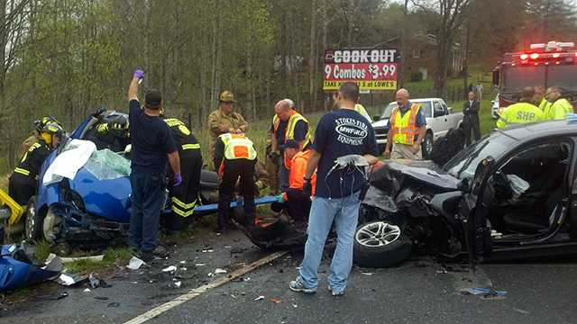 Crash on Highway 89 in Surry County