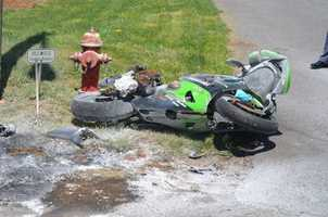 Workman, driving a 2003 Kawasaki motorcycle, failed to stop, leading Carroll County Sheriff's Office deputies on a high-speed chase that reached speeds of 110 miles per hour, Todd said. (Photo by Michael Howlett, The Carroll News)