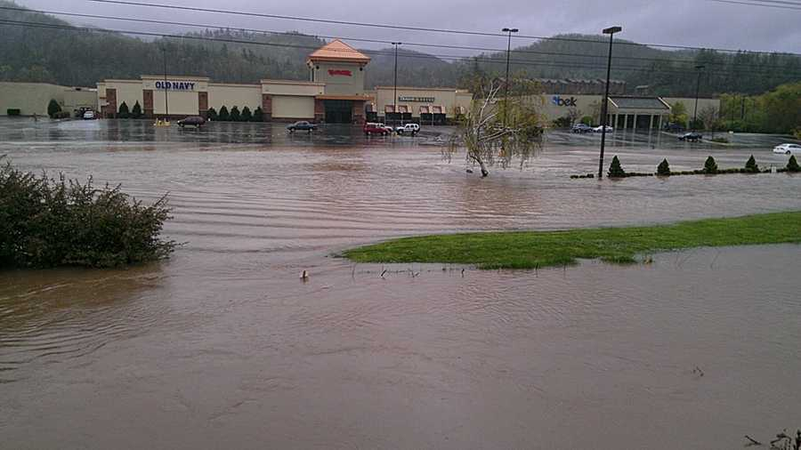 WXII photojournalist William Bottomley took these photos Monday in Boone, where several inches of rain was reported.