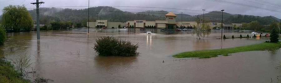 This photo was taken about 9 a.m. Monday outside the mall.