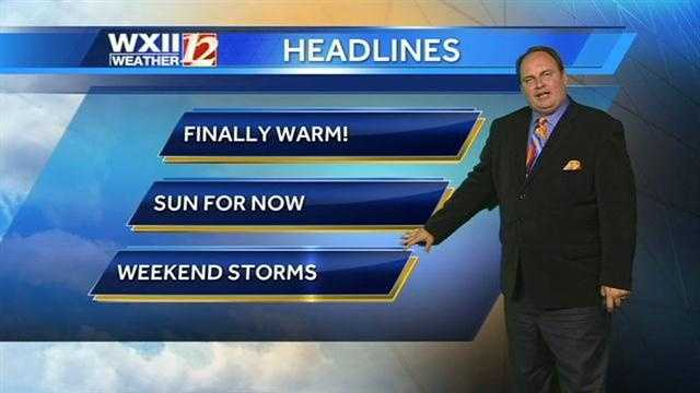 There is a chance of Friday afternoon and evening storms, as well as Saturday storms. |Video: Watch Austin's forecast