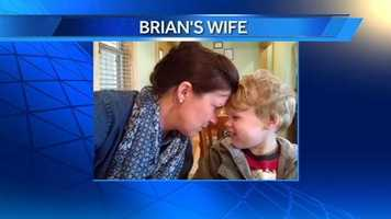 WXII 12's Meteorologist Brian's wife and son.