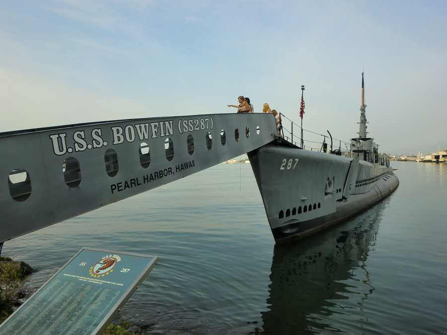 The U.S.S. Bowfin tour in Pearl Harbor, Hawaii.