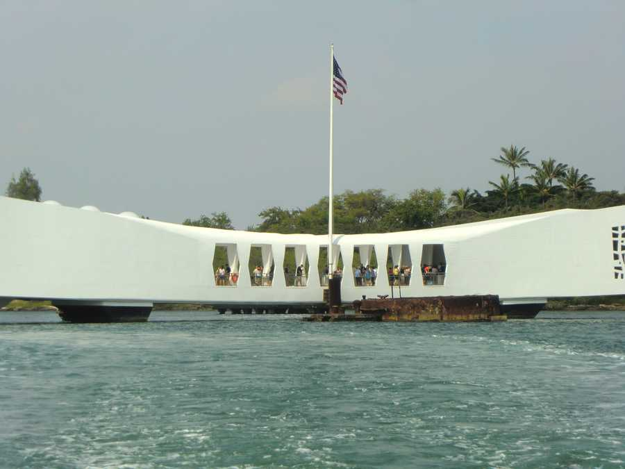 The U.S.S. Arizona is the final resting place for many of the ship's 1,177 crewmen who lost their lives on December 7, 1941.