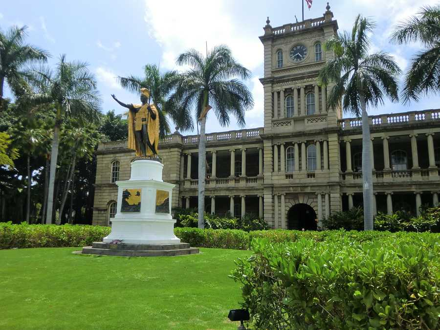 In Honolulu, Hawaii is a building called Ali'iolani Hale which is the Hawaii State Supreme Court and on the historical society buildings list.