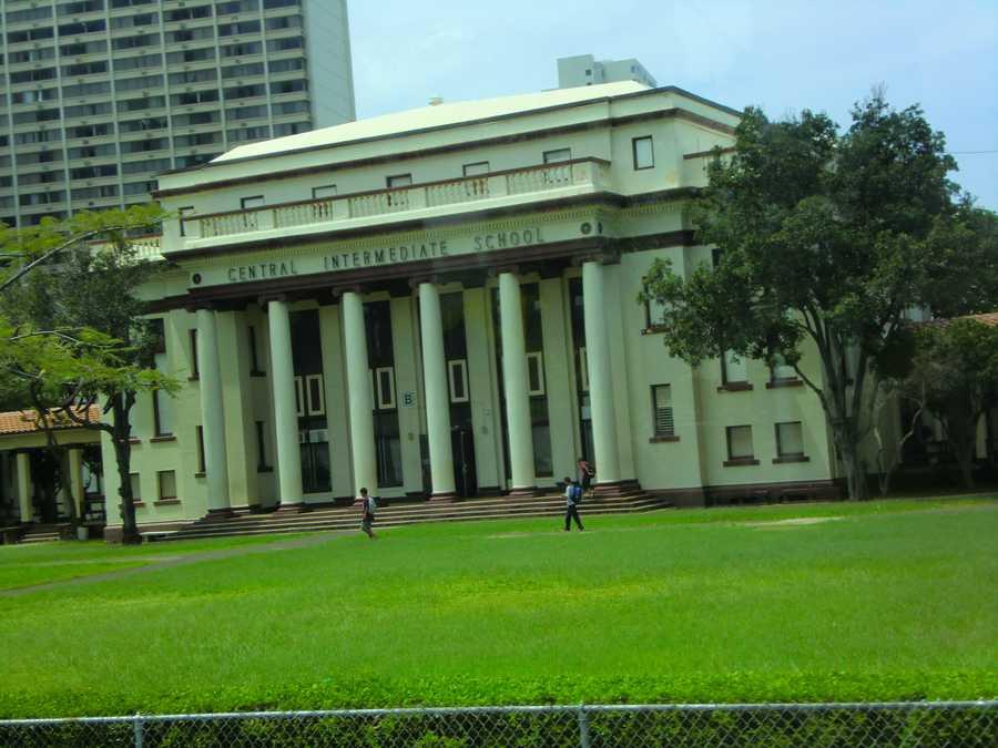 Cool buildings in Honolulu, even a Central Intermediate School.