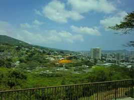 Beautiful mountain shots of Honolulu's skyline.