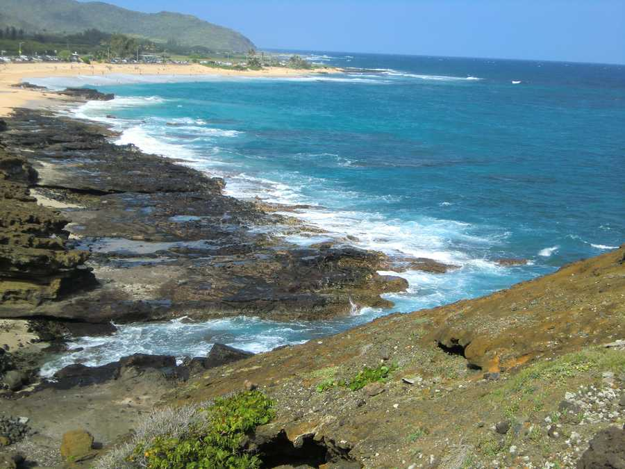 Oahu's famous Halona Cove Beach is right off the highway but if you don't know it's there you will miss it. Make sure to check it out while on vacation in Hawaii.