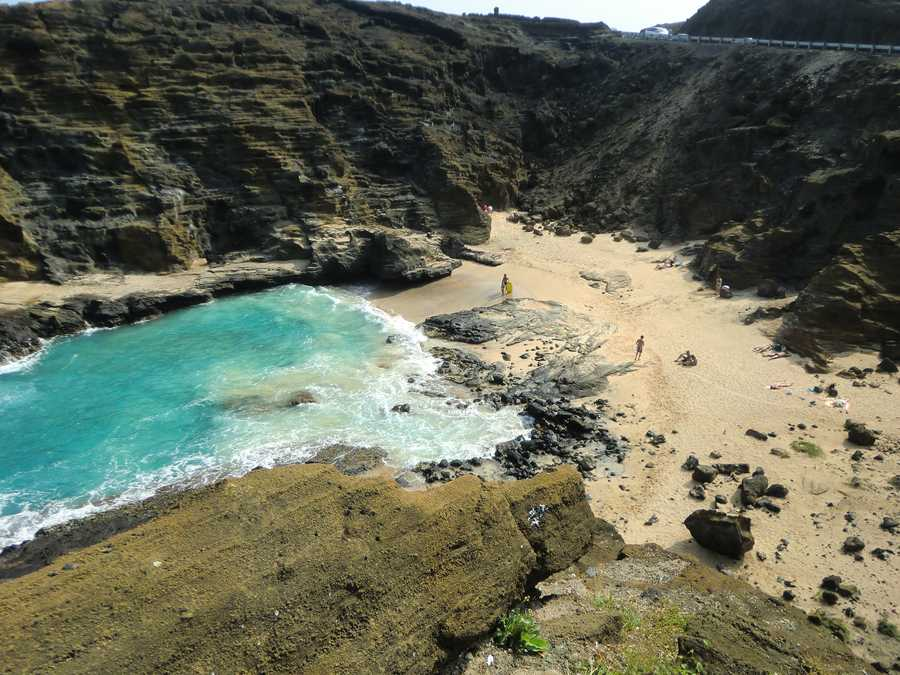 """This is the beach where Burt Lancaster and Deborah Kerr had their romance scene in """"From Here To Eternity."""" Romantic place for a memorable photo for tourists."""