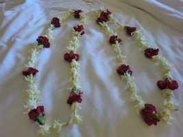 Surprise Hawaiian leis waiting for them in their room.