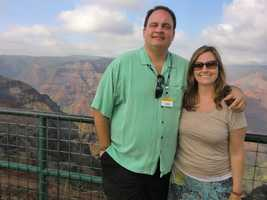 Austin and Angela enjoying their visit to this majestic canyon.