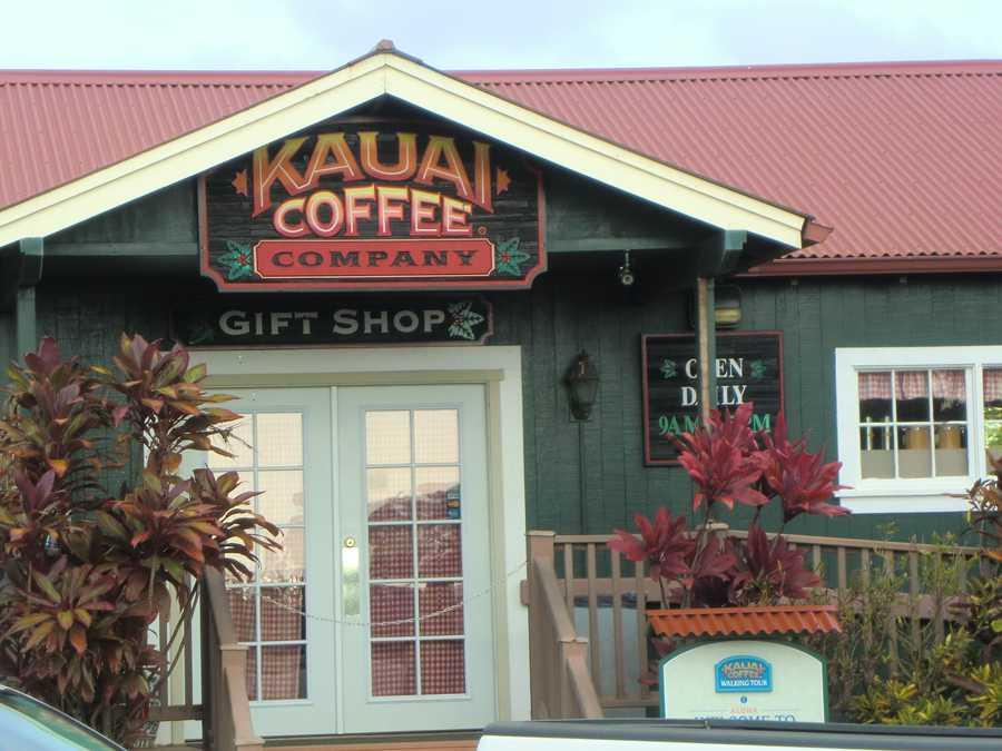 Kauai Coffee Company even has a gift shop with all kinds of coffee and Kauai items.