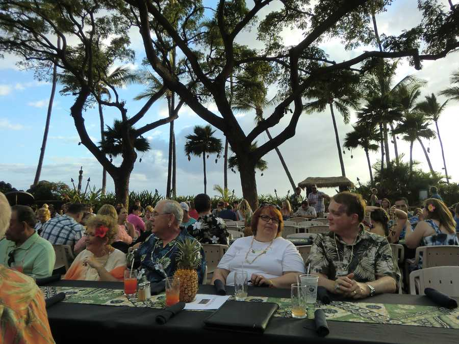 The group from the Piedmont get ready for an enjoyable meal and show at the Luau.
